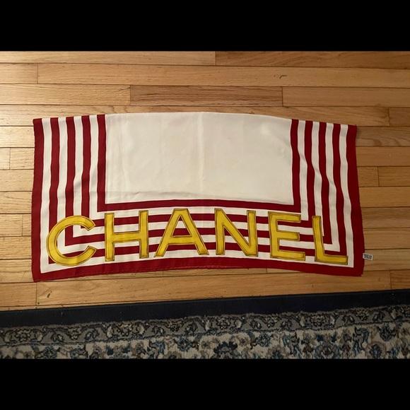 Chanel 100% silk scarf flash sale!